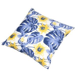 Almofada Canada Floral 45x45 Azul/Amarelo Ecogarden
