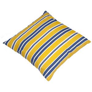 Almofada Canada Listras 45x45 Azul/Amarelo Ecogarden
