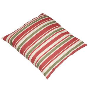 Almofada Canada Listras 45x45 Verde/Vermelho Ecogarden
