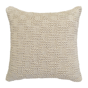 Almofada de Crochê Alto Relevo Bege 45x45cm Inspire