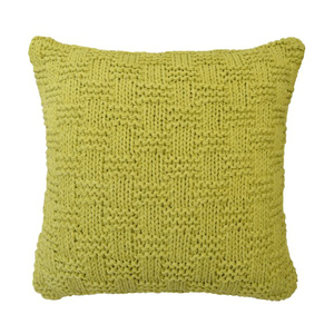 Almofada de Crochê Alto Relevo Verde 45x45cm