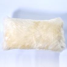 Almofada de Pelo de 2cm Bege 25x50cm