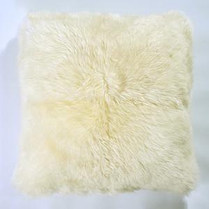 Almofada de Pelo de 2cm Bege 50x50cm
