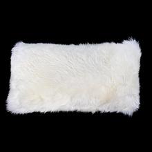 Almofada de Pelo de 2cm Branco 25x50cm