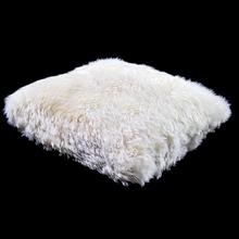 Almofada de Pelo de 2cm Branco 50x50cm