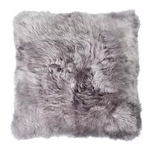 Almofada de Pelo de 2cm Cinza 50x50cm