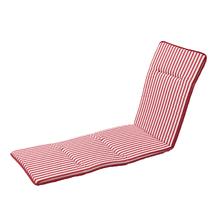 Almofada Espreguiçadeira PVC Stripes Vermelha 190x55cm