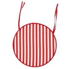 Almofada Jardim Poliéster Stripes Vermelha 40cm