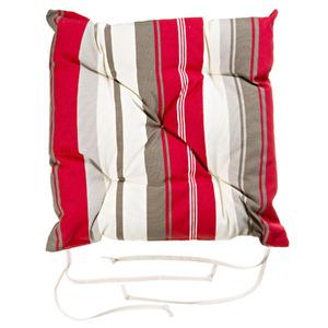 Almofada para Assento Barcelona Bege/Vermelha 43x43cm