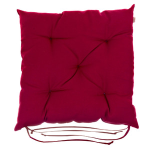 Almofada para Assento Roma Vermelha 43x43cm