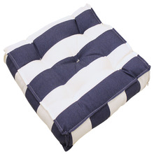 Almofada para Jardim Tecido Hidrorepelente Futton 43x43cm Listrada Azul e Branco Artgarden
