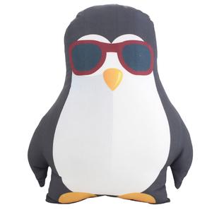 Almofada Pinguim Preta 33x28cm