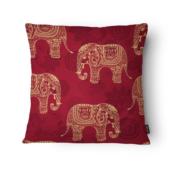 0714a7fdb08ada Almofada Silk Home Elefantes Vermelho 43x43cm | Leroy Merlin