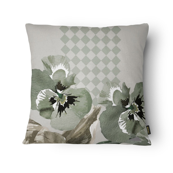 970fd87e62d9ad Almofada Silk Home Flores Verde 43x43cm | Leroy Merlin
