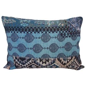 Almofada Suzani Linho Azul 30x50cm