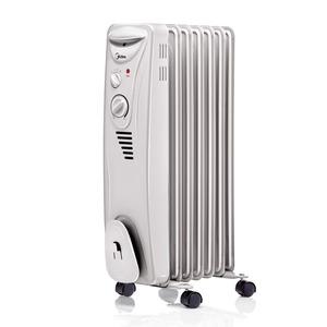 Aquecedor de Ambiente NYAK Óleo com 7 Elementos de Calefação 3 Níveis de Aquecimento Base com Roda 250 x 650 x 350 mm Midea