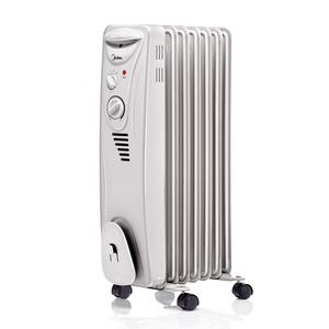 Aquecedor de Ambiente NYAK Óleo com 7 Elementos de Calefação 3 Níveis Aquecimento Base com Roda 250 x 650 x 350 mm Midea