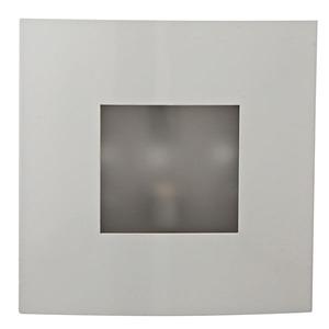 Arandela 1 Lâmp. G5 Quadrado 16x16cm Branco MM Iluminação