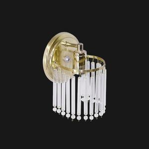 Arandela  Aço/Vidro 30x15cm Dourado Emalustres