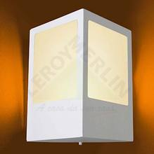 Arandela Alumínio 24x22cm Branca Lustres Ideal