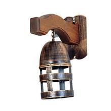 Arandela Copo Ferro 1 Lâmp. E27 vela Copo 10x30cm Bronze velho Art Luz