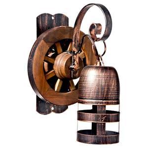 Arandela Copo Roda 1 Lâmp. E27 vela Copo com roda 20x30cm Bronze velho Art Luz