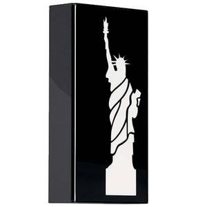 Arandela Estátua da Liberdade 1 Lâmp. E27 Retangular 16x30cm Preto MM Iluminação