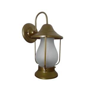 Arandela Exterior Ema Lustres Lampião Redonda Metal Ouro Velho