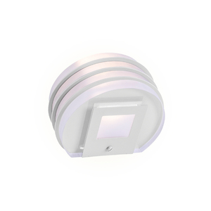Arandela Externa Felluz Conceito Redondo Acrílico|Alumínio Branco G9