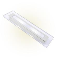 Arandela Externa Felluz Conceito Retangular Acrílico|Alumínio Branco G13