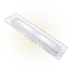 Arandela Externa Felluz Conceito Retangular Acrílico Alumínio Branco G13