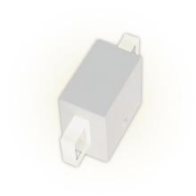 Arandela Externa Felluz Conceito Retangular Acrílico|Alumínio Branco G9