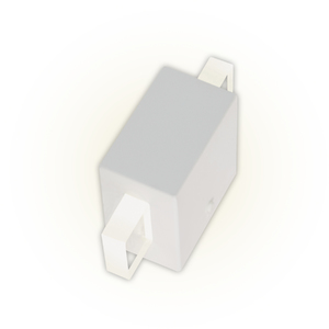 Arandela Externa Felluz Conceito Retangular Acrílico Alumínio Branco G9