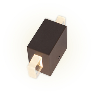 Arandela Externa Felluz Conceito Retangular Acrílico|Alumínio Marrom G9