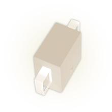 Arandela Externa Felluz Conceito Retangular Acrílico|Alumínio Nude G9