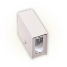 Arandela Externa Felluz Original Retangular Alumínio Branco G9