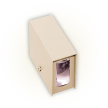 Arandela Externa Felluz Original Retangular Alumínio Nude G9