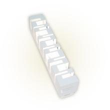Arandela Externa Felluz Versátil Retangular Alumínio Branco G13