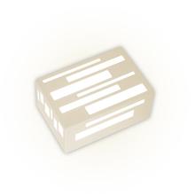 Arandela Externa Felluz Versátil Retangular Alumínio Nude E27