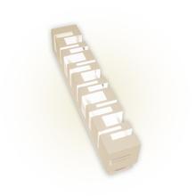 Arandela Externa Felluz Versátil Retangular Alumínio Nude G13