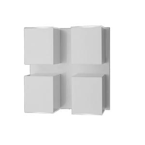 Arandela Externa Ideal Iluminação Cube Metal Branca Bivolt