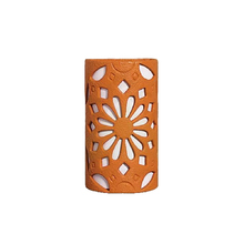 Arandela Externa Laranja Cerâmica Zahra AlfaLuz