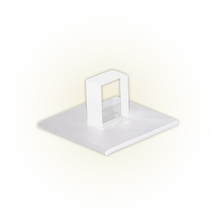 Arandela Felluz Conceito Quadrado Alumínio Branco G9