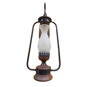 Arandela Artluz Ferro/Madeira Preta 1 Lamp Bivolt