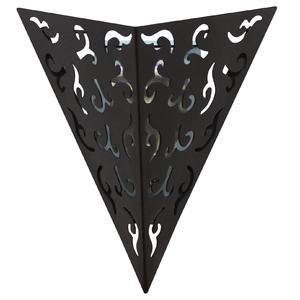 Arandela Interna Inspire India Triangular Metal Marrom Bivolt