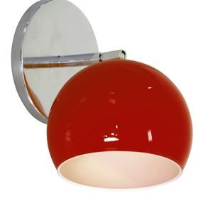 Arandela Interna Inspire ARA 357 Redondo GU10 Vidro Vermelho