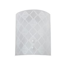 Arandela Interna Inspire Marrocos Retangular Vidro Branco Bivolt
