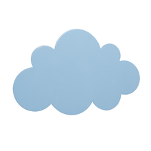 Arandela Interna Inspire Nuvem Redondo Madeira Azul Bivolt
