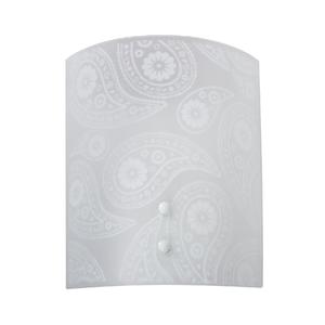 Arandela Interna Inspire Paysle Retangular Vidro Branco Bivolt