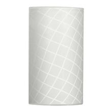 Arandela Interna Inspire Riske Branco Retangular E27 Vidro Branco
